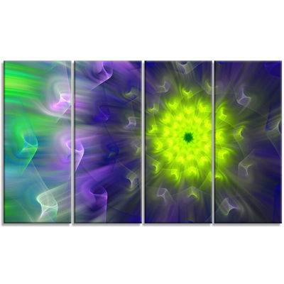 Designart Amazing Dance Of Exotic Petals Floral Canvas Art Print - 4 Panels