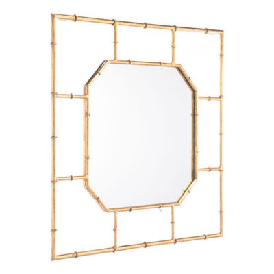 Bamboo Square Mirror