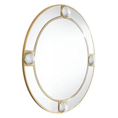 Lucite Round Mirror