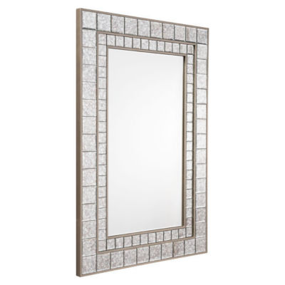 Mini Squares Beveled Mirror