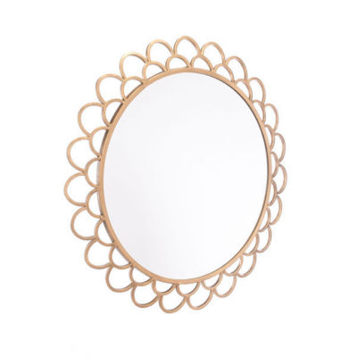 Rani Scalloped Round Mirror