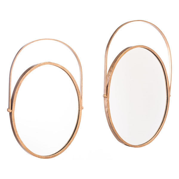 Set of 2 Oval Mirrors