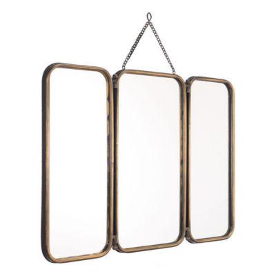 Tri Paneled Mirror