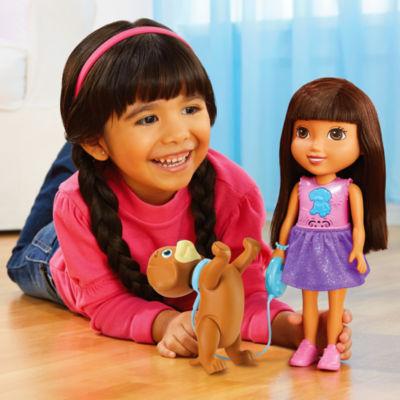 Fisher-Price Nickelodeon Dora And Friends Train &Play Dora And Perrito