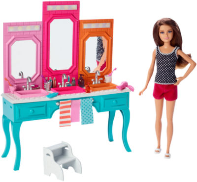 Barbie Sisters Vanity & Skipper Doll