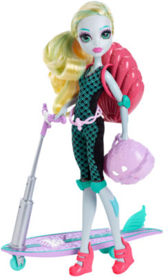 Monster High Surf-To-Turf Scooter Doll & Vehicle