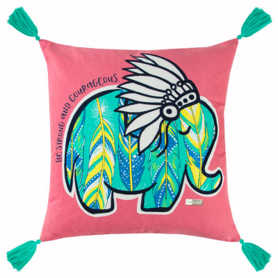 Simply Southern By Rizzy Home Penelope Pink  Decorative Pillow