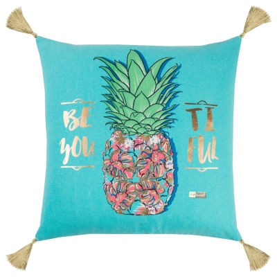 Simply Southern By Rizzy Home Jessica Aqua Decorative Pillow