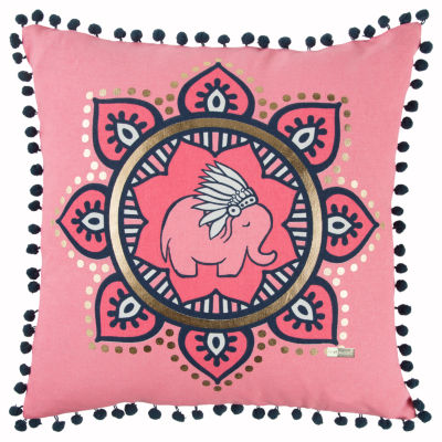 Simply Southern By Rizzy Home Karina Pink  Decorative Pillow