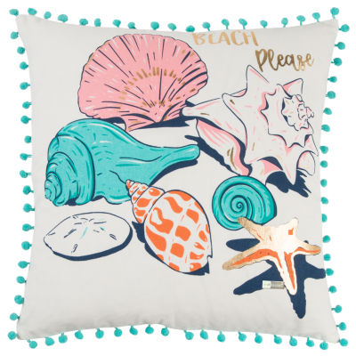 Simply Southern By Rizzy Home Evelyn Aqua Decorative Pillow
