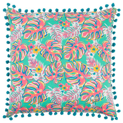 Simply Southern By Rizzy Home Kailee Aqua Decorative Pillow
