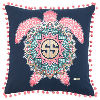 Simply Southern By Rizzy Home Crystal Pink  Decorative Pillow