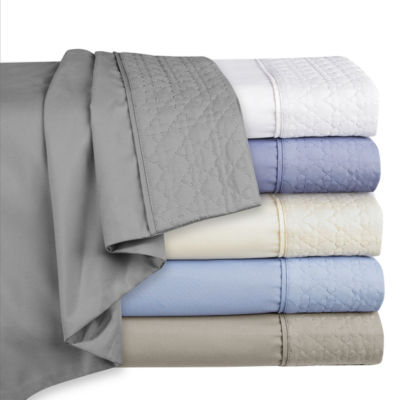 Cathay Home Microfiber Quilted  Hem Woven Easy Care Wrinkle Resistant Sheet Set
