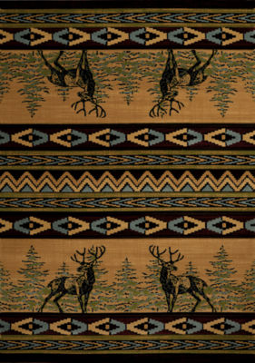 United Weavers Contours Carleo Entertainment Management Collection Mule Deer Rectangular Rug
