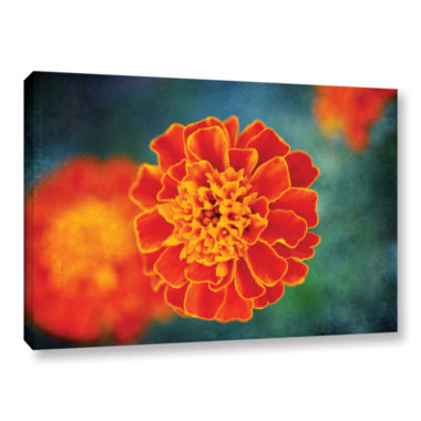 Brushstone One in Orange Gallery Wrapped Canvas Wall Art