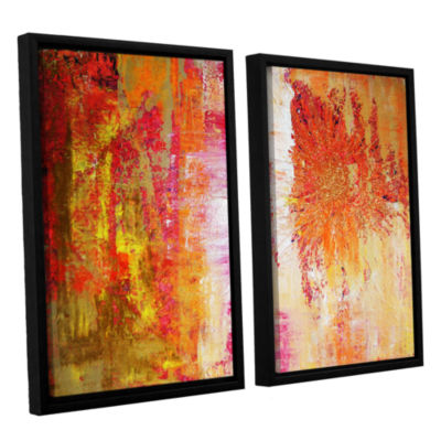 Brushstone Uncover The Sun 2-pc. Floater Framed Canvas Wall Art