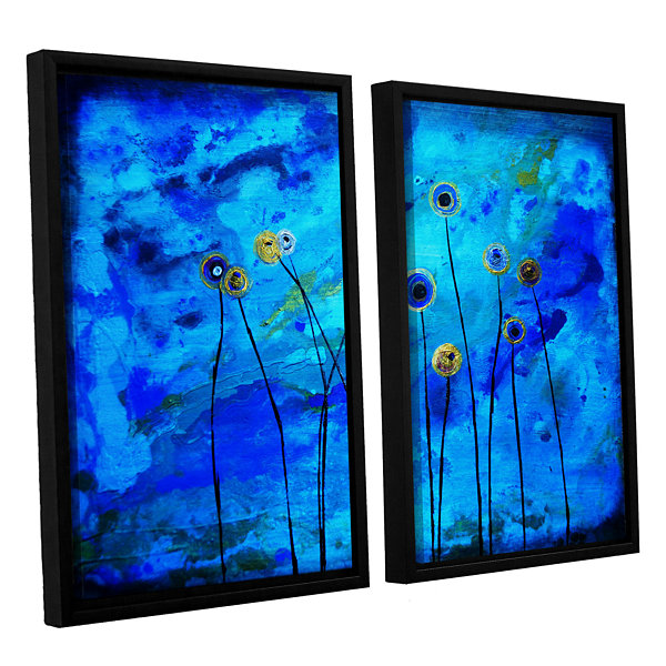 Brushstone Space Poppies 2-pc. Floater Framed Canvas Wall Art