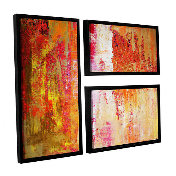 Brushstone Uncover The Sun 3-pc. Flag Floater Framed Canvas Wall Art