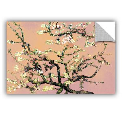 Brushstone Almond Blossom-Interpretation in Eggshell Pink Removable Wall Decal