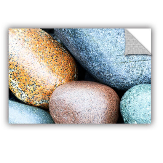 Brushstone Beach Rocks Removable Wall Decal