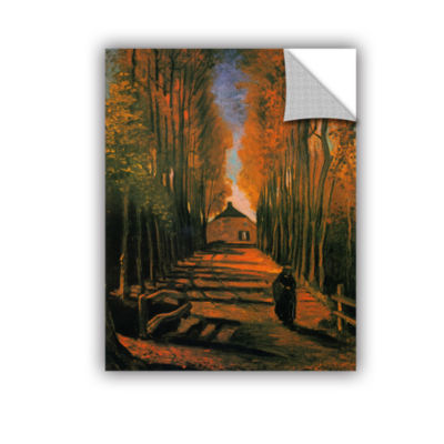Brushstone Avenue of Poplars in Autumn Removable Wall Decal