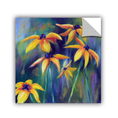 Brushstone Black Eyed Susans 1 Removable Wall Decal