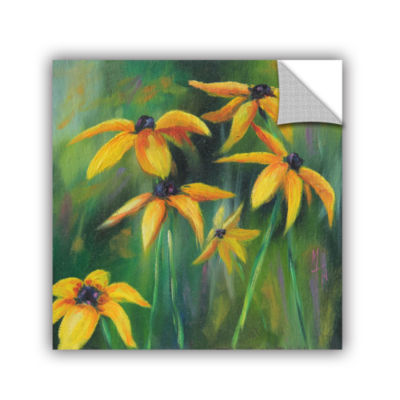 Brushstone Black Eyed Susans 2 Removable Wall Decal