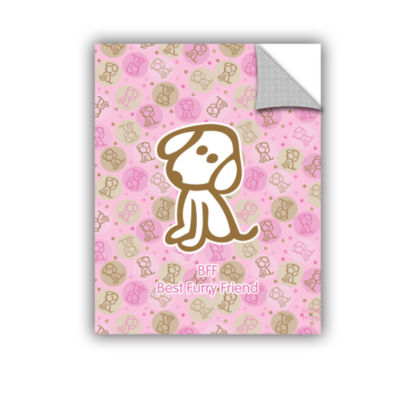 Brushstone Best Furry Friend 2 Removable Wall Decal