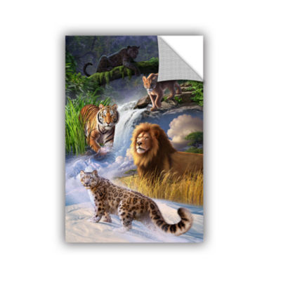 Brushstone Big Cats Removable Wall Decal