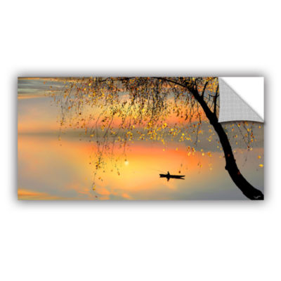 Brushtone Fishing Sunset Removable Wall Decal
