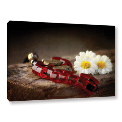 Brushstone New Red Marbles Gallery Wrapped CanvasWall Art