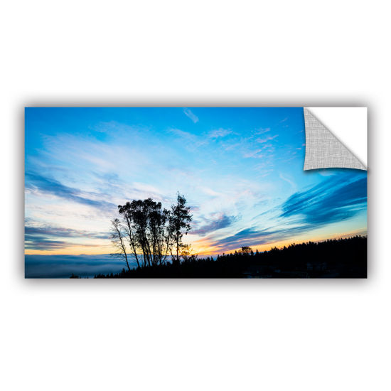 Brushtone Foggy Sunrise Removable Wall Decal