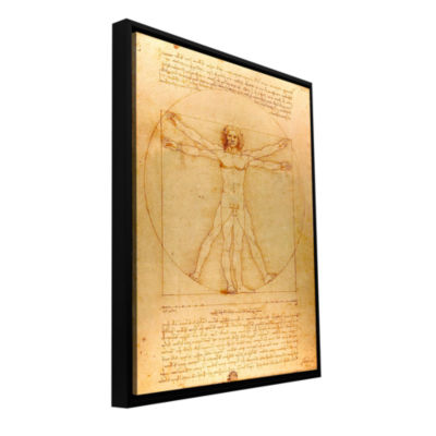 Brushstone Vitruvian Man Gallery Wrapped Floater-Framed Canvas Wall Art