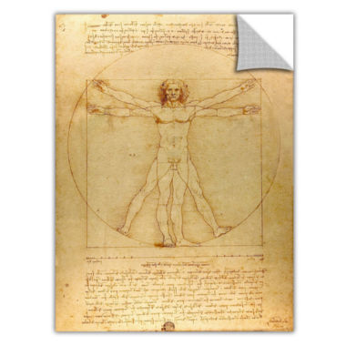 Brushstone Vitruvian Man Removable Wall Decal