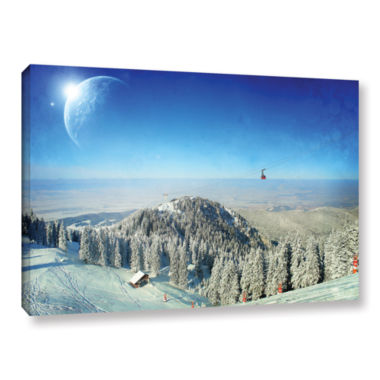 Brushstone Between Worlds V1 Gallery Wrapped Canvas Wall Art