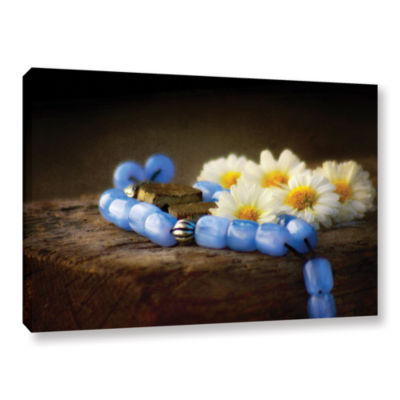 Brushstone Blue Marbles Gallery Wrapped Canvas Wall Art