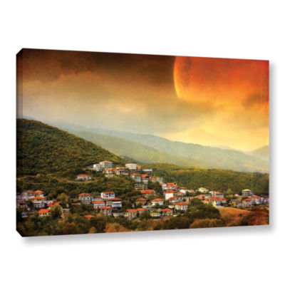 Brushstone Red Dawn Gallery Wrapped Canvas Wall Art