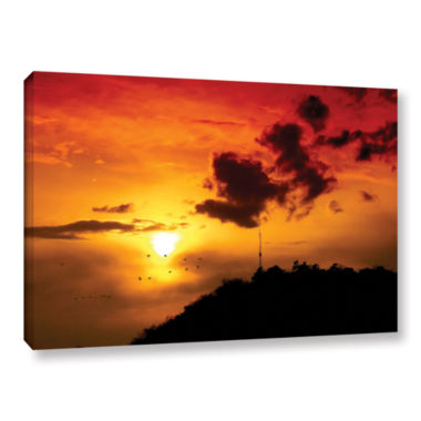 Brushstone Red Sky Gallery Wrapped Canvas Wall Art