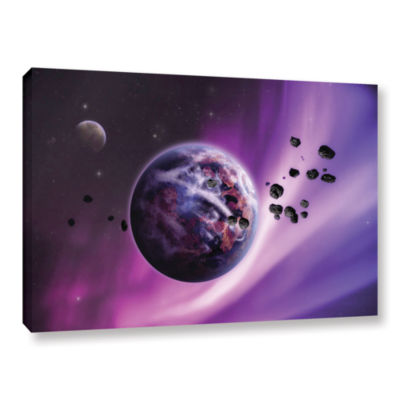 Brushstone Deep Purple Space Gallery Wrapped Canvas Wall Art