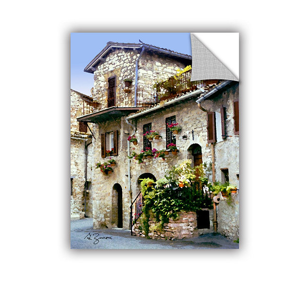 Brushstone Assisi Italy Removable Wall Decal