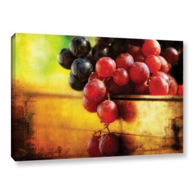 Brushstone Autumn Grapes Gallery Wrapped Canvas Wall Art