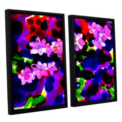 Brushstone Blooming 2 2-pc. Floater Framed CanvasWall Art
