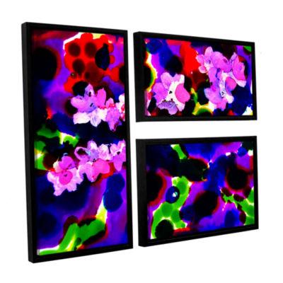 Brushstone Blooming 2 3-pc. Flag Floater Framed Canvas Wall Art