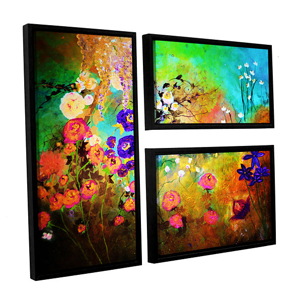 Brushstone The Beauty Of Silence 3-pc. Flag Floater Framed Canvas Wall Art