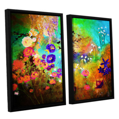 Brushstone Blooming 2-pc. Floater Framed Canvas Wall Art