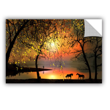 Brushstone At The Sunset Removable Wall Decal