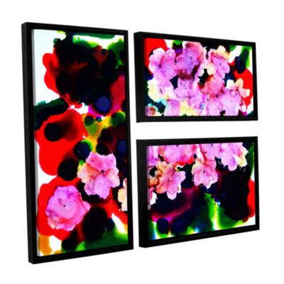 Brushstone Blooming 3 3-pc. Flag Floater Framed Canvas Wall Art
