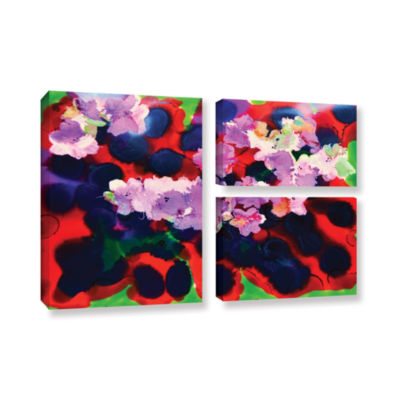 Brushstone Blooming 3 3-pc. Flag Gallery Wrapped Canvas Wall Art