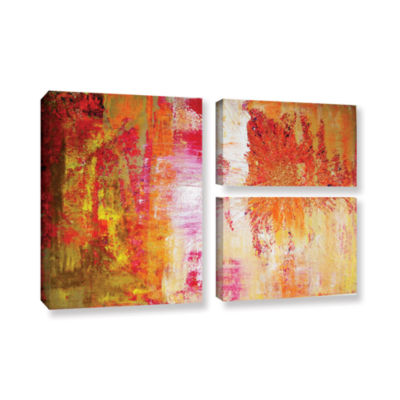 Brushstone Blooming 3-pc. Flag Floater Framed Canvas Wall Art