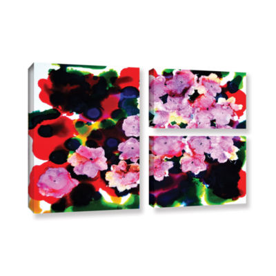 Brushstone Blooming 3-pc. Flag Gallery Wrapped Canvas Wall Art
